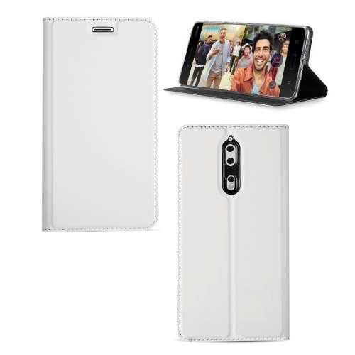 Nokia 8 Telefoonhoesje Wit met Standaardfunctie
