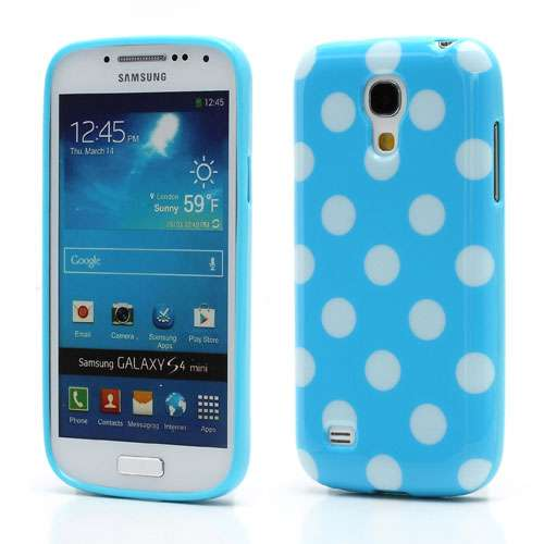 Polka Dots TPU Case Galaxy S4 Mini i9190 Blauw