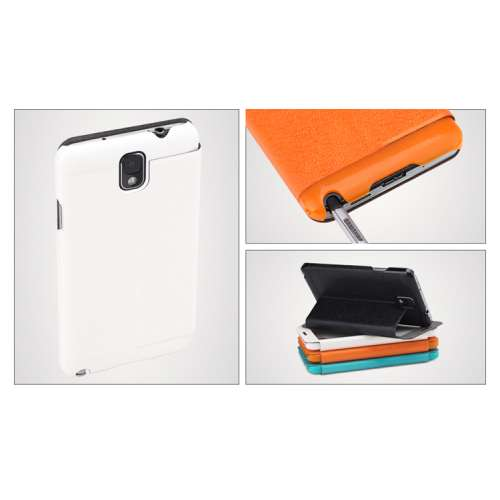 Rock Bookstyle Case Samsung Galaxy Note 3 Wit