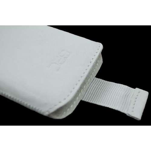 Samsung CHAT 335 S3350 Lederen Hoesje met Strap Wit