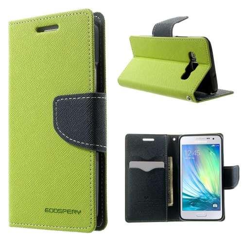 Samsung Galaxy A3 Hoesje Groen met Opbergvakjes, A300F