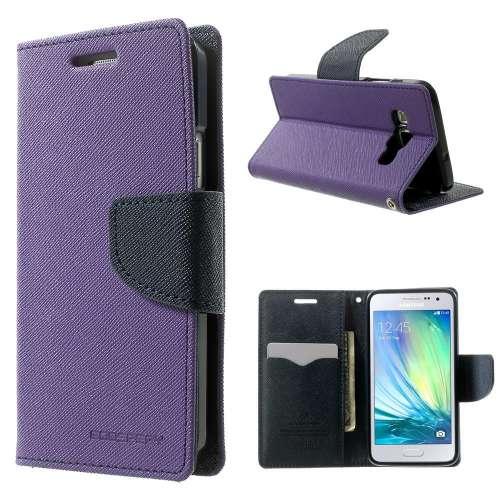 Samsung Galaxy A3 Hoesje Paars met Opbergvakjes, A300F