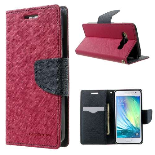 Samsung Galaxy A3 Hoesje Roze met Opbergvakjes, A300F