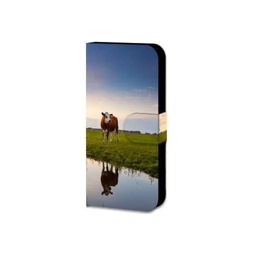 Samsung Galaxy A5 2015 Uniek Hoesje met Opbergvakjes Koeien