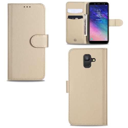 Samsung Galaxy A6 (2018) Telefoonhoesje Goud met Pasjeshouder
