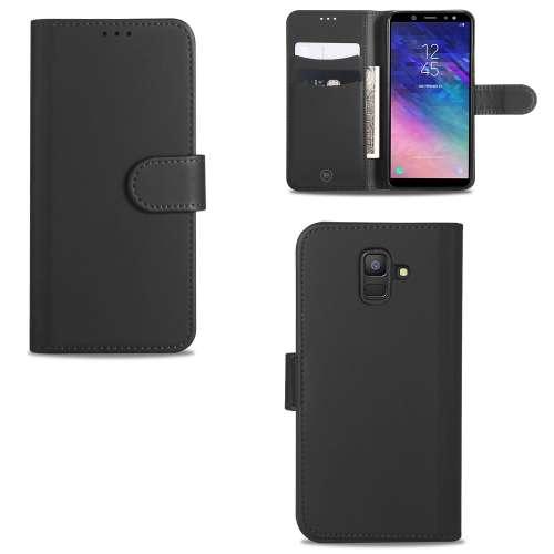 Samsung Galaxy A6 (2018) Telefoonhoesje Grijs met Pasjeshouder