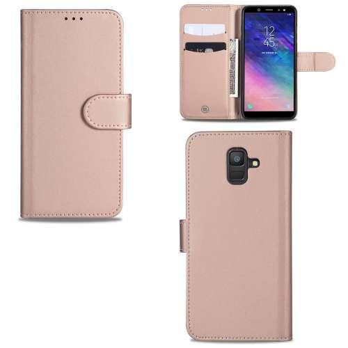 Samsung Galaxy A6 (2018) Telefoonhoesje Rose met Pasjeshouder