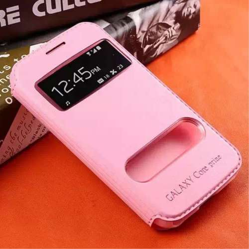 Samsung Galaxy Core Prime | Prime VE Hoesje Lichtroze met Venster