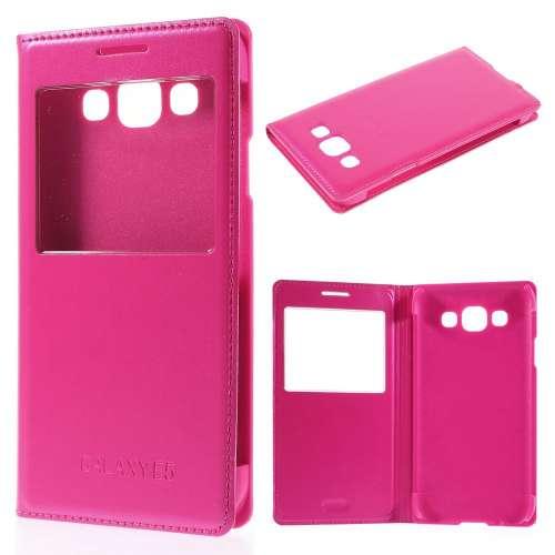 Samsung Galaxy E5 Hoesje met Venster Roze