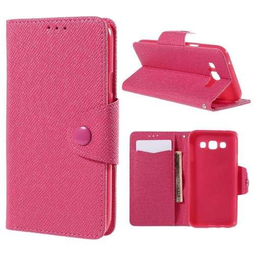 Samsung Galaxy E5 Hoesje Roze met Opbergvakjes (SM-E500F)