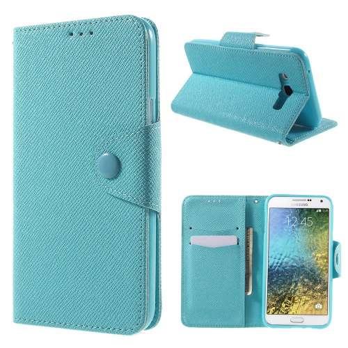 Samsung Galaxy E7 Hoesje Blauw met Opbergvakjes (SM-E700F)
