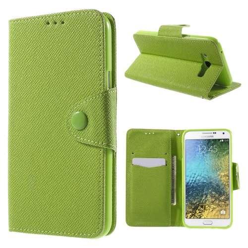 Samsung Galaxy E7 Hoesje Groen met Opbergvakjes (SM-E700F)