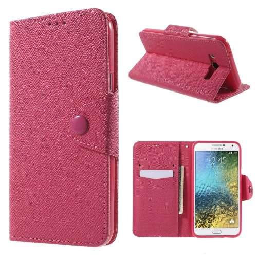 Samsung Galaxy E7 Hoesje Roze met Opbergvakjes (SM-E700F)