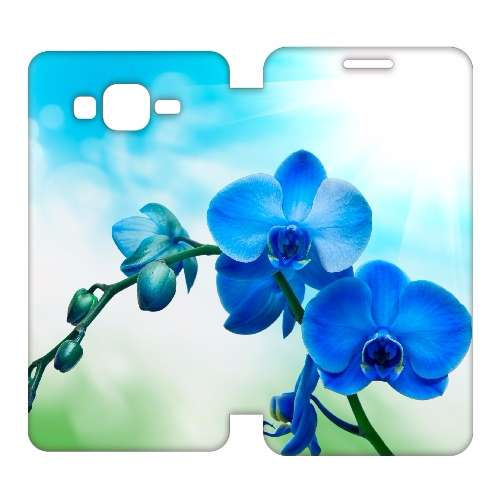 Samsung Galaxy Grand Prime Uniek Hoesje Orchidee Blauw