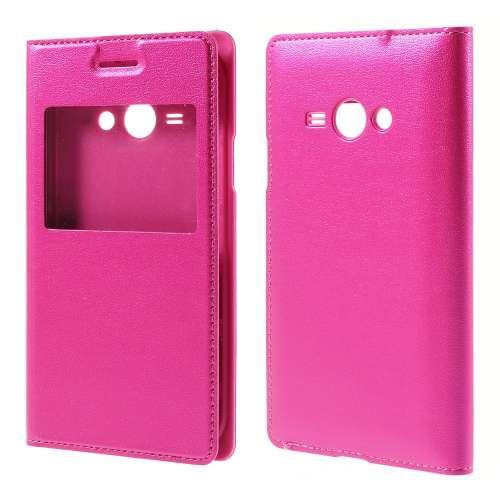 Samsung Galaxy J1 Ace Hoesje met Venster Roze