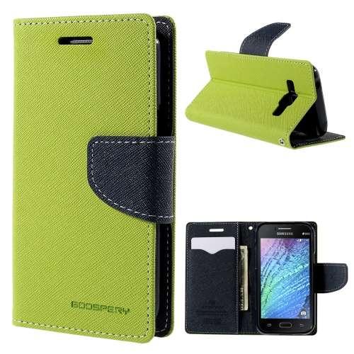Samsung Galaxy J1 Hoesje Groen met Opbergvakjes J100