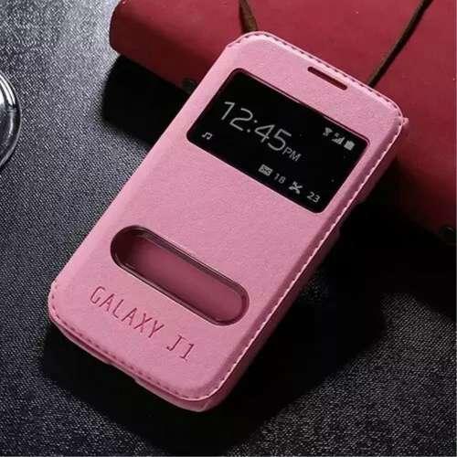 Samsung Galaxy J1 Hoesje Lichtroze Venster,direct op te nemen!