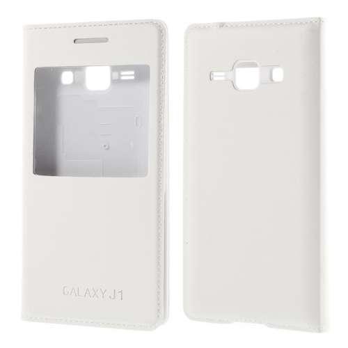 Samsung Galaxy J1 Hoesje met Venster Wit