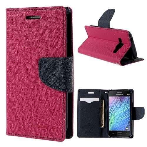 Samsung Galaxy J1 Hoesje Roze met Opbergvakjes J100