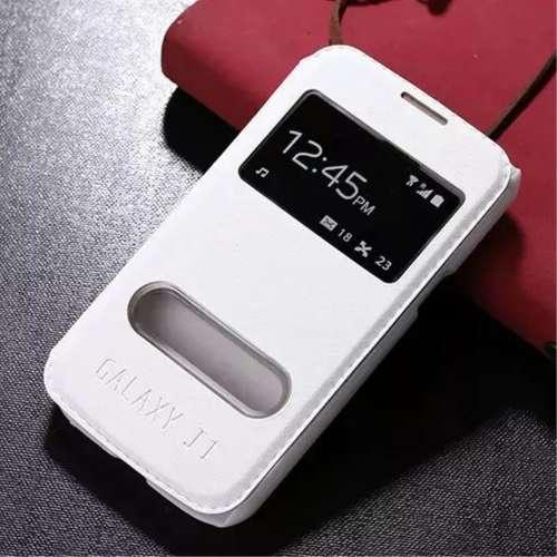 Samsung Galaxy J1 Hoesje Wit met Venster,direct op te nemen!