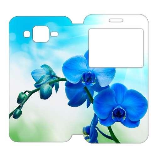 Samsung Galaxy J5 Uniek Telefoonhoesje Orchidee Blauw