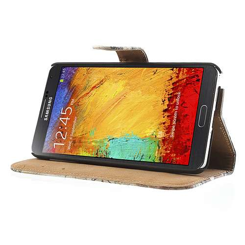 Samsung Galaxy Note 3 Bookstyle Stand Case Eiffel Tower
