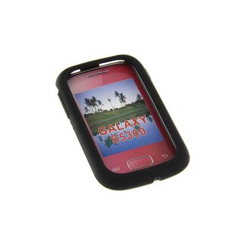 Silicone Hoesje Samsung Galaxy Pocket S5300 Zwart