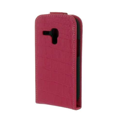 Samsung Galaxy S3 Mini Flipcase Croco Rose