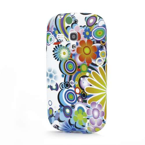 Samsung Galaxy S3 Mini TPU Case Colorful Flowers