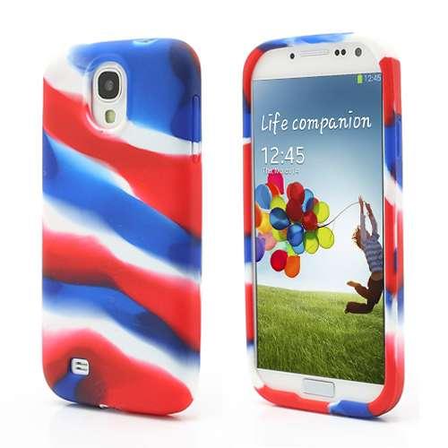 Samsung Galaxy S4 i9500 Silicone Hoesje Case Color Stripe
