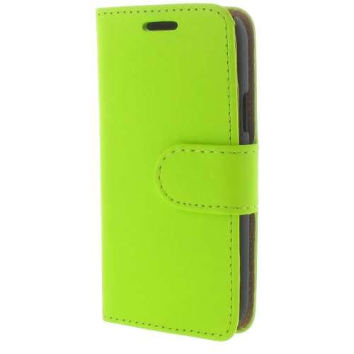 Samsung Galaxy S4 Mini Boekhoesje Groen met opbergvakjes