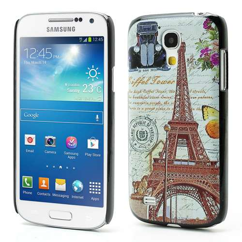 Samsung Galaxy S4 Mini i9190 Hard Case Eiffeltoren & Auto