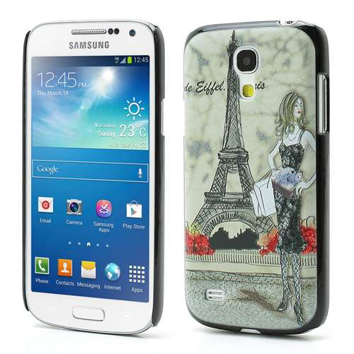 Samsung Galaxy S4 Mini i9190 Hard Case Eiffeltoren & Dame
