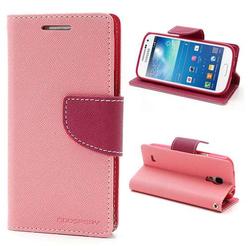 Samsung Galaxy S4 Mini Mercury Wallet Stand Case Lichtroze