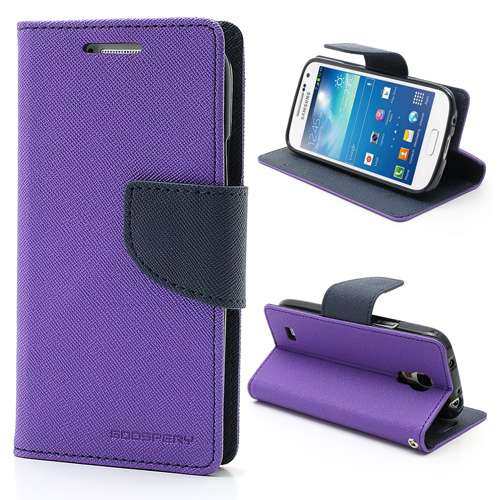 Samsung Galaxy S4 Mini Mercury Wallet Stand Case Paars