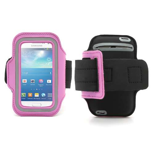 Samsung Galaxy S4 Mini Sports Armband Case Roze