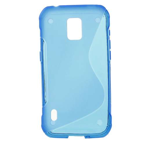 Samsung Galaxy S5 Active SM-G870A TPU Hoesje Blauw