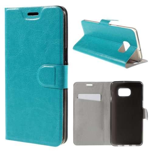 Samsung Galaxy S6 Edge Plus Hoesje Blauw met Flexibele Houder