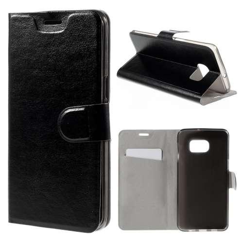 Samsung Galaxy S6 Edge Plus Hoesje Zwart met Flexibele Houder