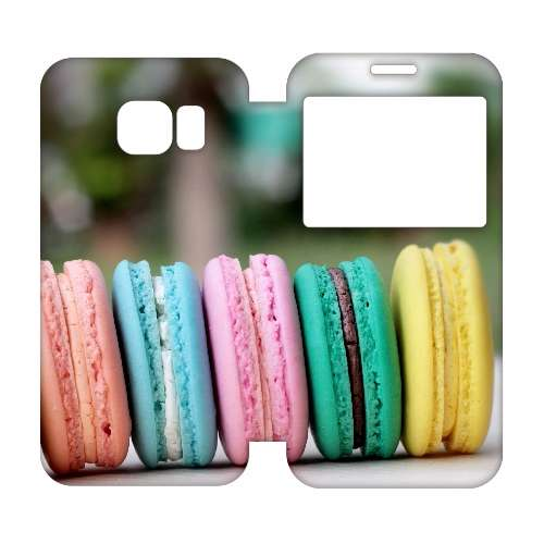 Samsung Galaxy S6 Edge Uniek Hoesje Macarons