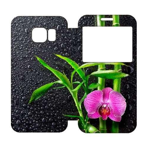 Samsung Galaxy S6 Edge Uniek Hoesje Orchidee