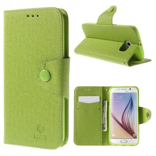 Samsung Galaxy S6 Hoesje Groen met Opbergvakjes