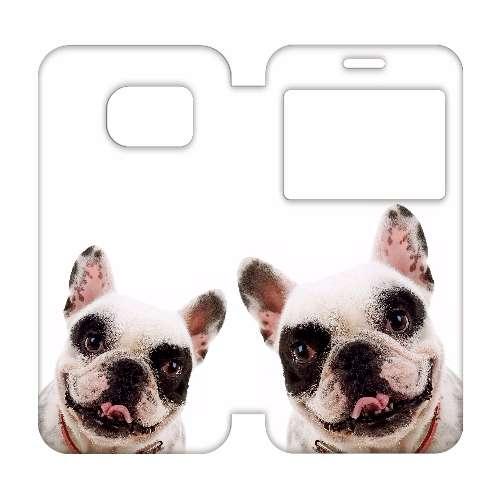 Samsung Galaxy S7 Edge Telefoonhoesje Hond met Venster