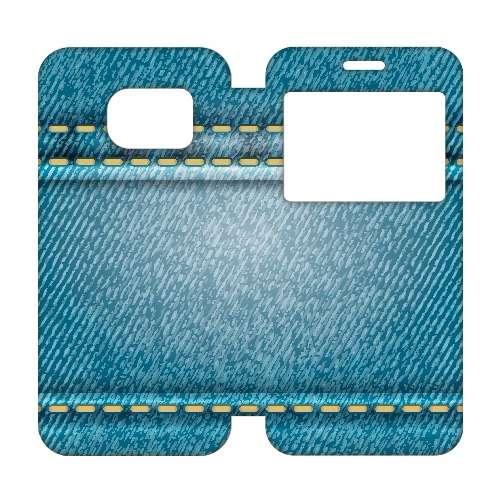 Samsung Galaxy S7 Edge Telefoonhoesje Spijkerbroek Venster