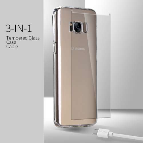 Samsung Galaxy S7 Edge Hoesje, Screen Protector en Oplader