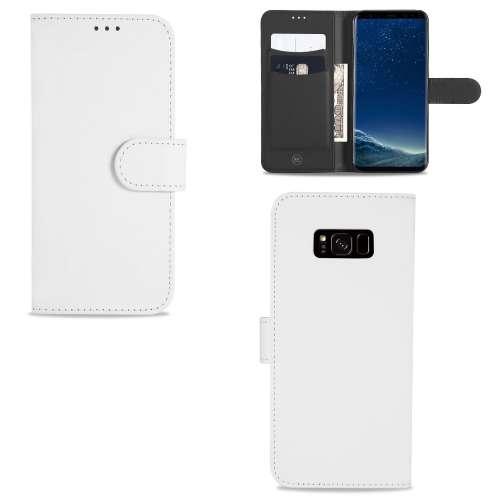 Samsung Galaxy S8 Telefoonhoesje Wit met Opbergvakjes
