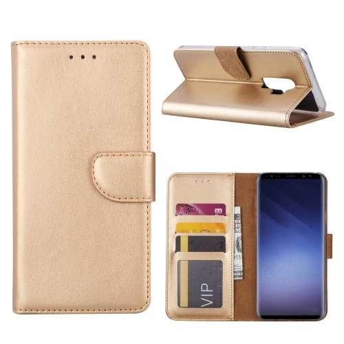 Samsung Galaxy S9 Plus Hoesje Goud met Pasjeshouder