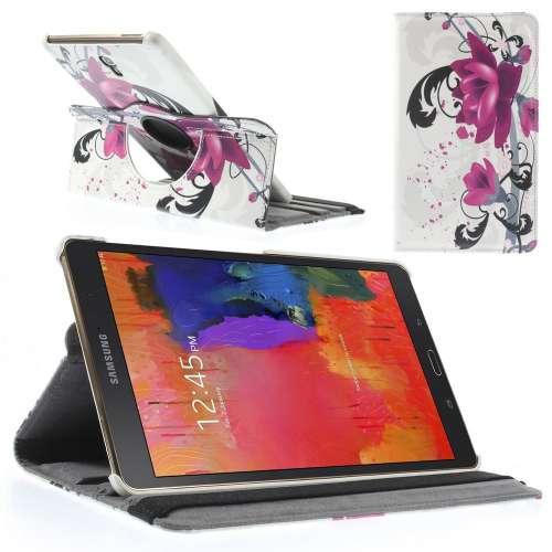 Samsung Galaxy Tab S 8.4 Hoesje Lotus (Draaibaar Stand Case)