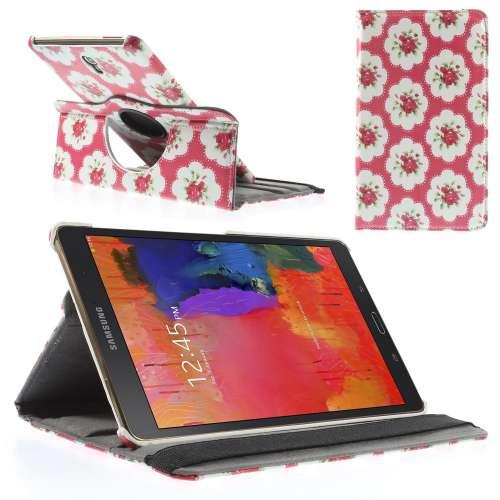 Samsung Galaxy Tab S 8.4 Hoesje Rozen (Draaibaar Stand Case)
