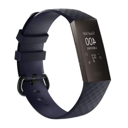 Silicone Bandje Fitbit Charge 3 | 4 Donker Blauw